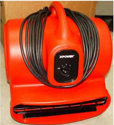 XPOWER X-600A 1/3 HP 2400 CFM 3 Speed Air Mover Carpet Drying Works Excellent