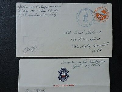 1945 Apo 43 Philippines +Soldier Letter ! Fdr Roosevelt Death +Truman +Germany +
