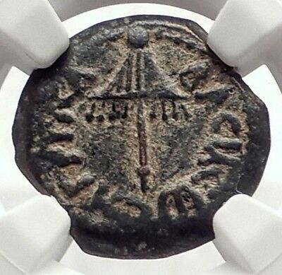 Herod AGRIPPA I JERUSALEM Biblical Claudius Time Ancient Greek Coin NGC i70870