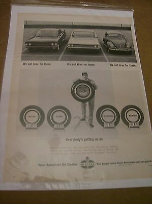 Original 1965 Atlas Tires Magazine Ad