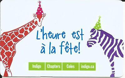Animals Mint Gift Card From Indigo Chapters Canada Bilingual No Value