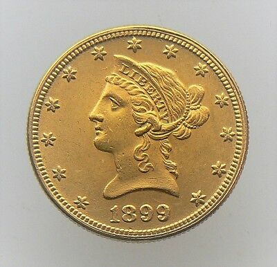 1899 $10 Dollar Liberty Gold Eagle Coin