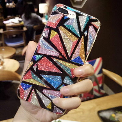 Luxury Bling Glitter Diamond Pattern Cute Case Cover For iPhone Xs XR X 8 7 Plus