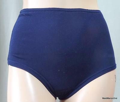 VINTAGE TRADITIONAL NAVY BLUE NYLON SCHOOL KNICKERS Age 9/11