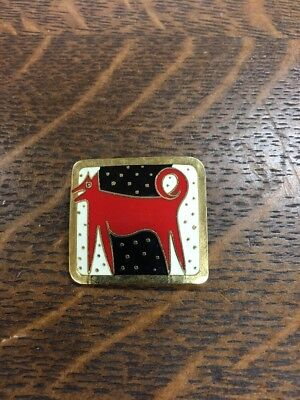 Vintage Laurel Burch Night Dog 🐕 Brooch Pin