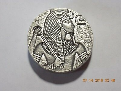 2016 Republic of Chad 3000 Francs 5 Oz .999 Silver Egypt Relic / King Tut Coin 3