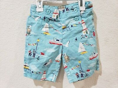 Janie and Jack Yacht Party Turquoise Shorts Size 4T