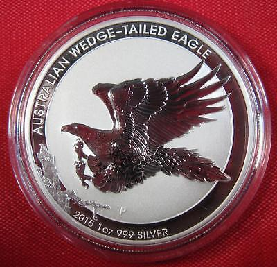 2015 Silver Australian WEDGE-TAILED EAGLE 1 oz .999 Coin Proof-Like GORGEOUS
