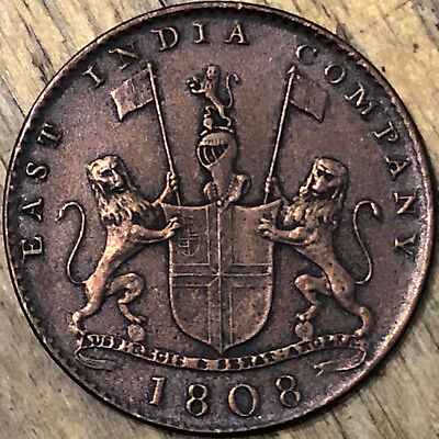1808 East India Company X Cash Admiral Gardner Shipwreck Treasure Coin