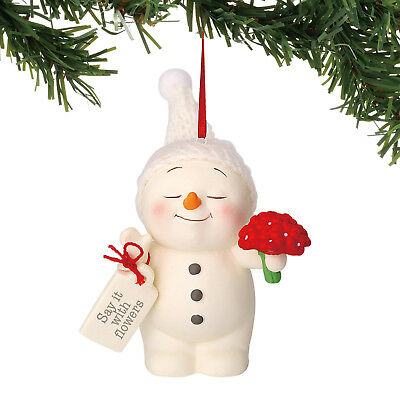Dept 56 Snowpinions 2018 Say It With Flowers Ornament #6000914 NEW FREE SHIPPING
