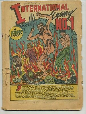 Wanted Comics 13 Heroin Story Coverless Golden Age