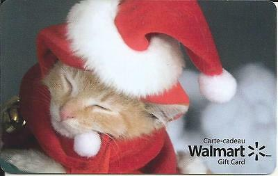 New 2016 Cat & Christmas Mint Gift Card From Walmart Canada Bilingual