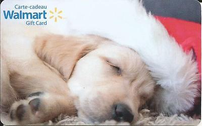 New 2016 Dog & Christmas Mint Gift Card From Walmart Canada Bilingual