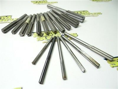"""Lot Of 17 Hss Machine Length Reamers 1/4"""" To .7188"""" Dia. L&i R.r.t."""