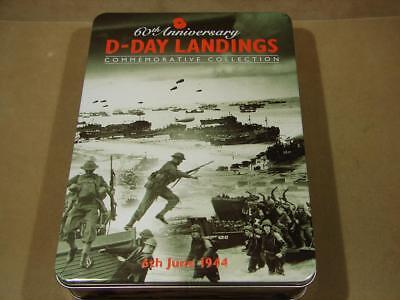 2004 60th Anniversary D Day Landings Commemorative 3 Coin Silver Proof Pin Set