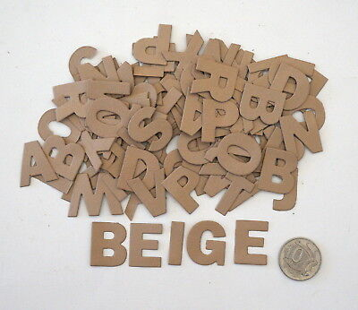 NO 200 Scrapbooking - 104 Beige Alphabet / Letters - Not Stickers - Scrapbook