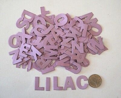NO 075 Scrapbooking - 104 Lilac Alphabet / Letters - Not Stickers - Scrapbook