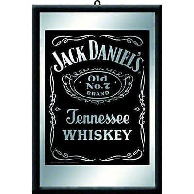 Jack Daniels Mirror Framed Mirror 20x30cm Licensed Nostalgic Art - Bar Black No7
