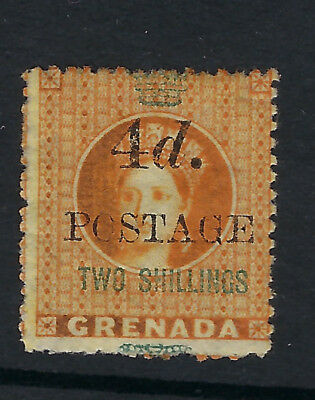 GRENADA : 1888  4d on 2/- orange   SG 41 mint