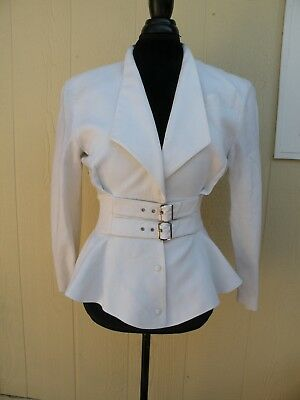 Vintage Thierry Mugler Linen Jacket Size 40