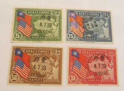 China 1939 US Constitution Anniversary set with Chungking First Day cancels