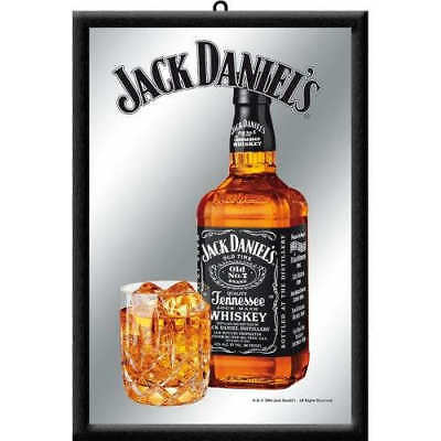 Jack Daniels Bottle Mirror 20x30cm Licensed Nostalgic Art Black No7 Barware New