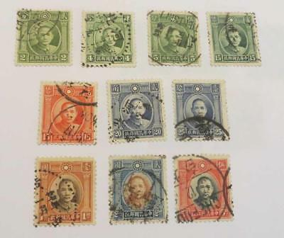China 1931 - 37 Second  Issue set used