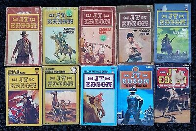 Job lot 10 Cowboy Western Paperback Books Lot 52 All J. T. JT Edson Corgi Books