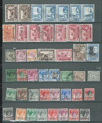 Malaya States lot 2,  some early issues mint (hinged) and used. [7111]