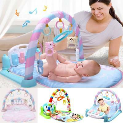 Baby Gym Play Mat Lay&Play 3in1 Fitness Music And Lights Fun Piano Boy Girl UK