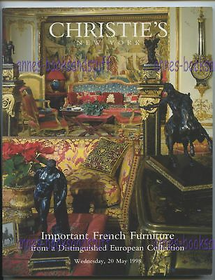 CHRISTIE'S NEW YORK May 1998 * IMPORTANT FRENCH FURNITURE * sale 8914