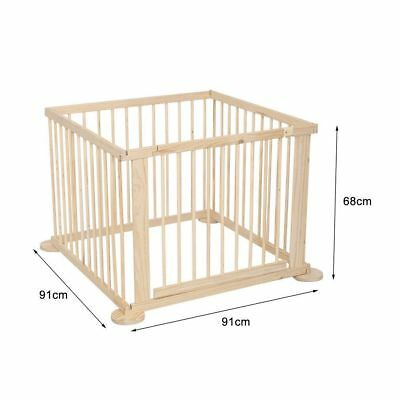 Folding Wooden Playpen. Assembled but never used.