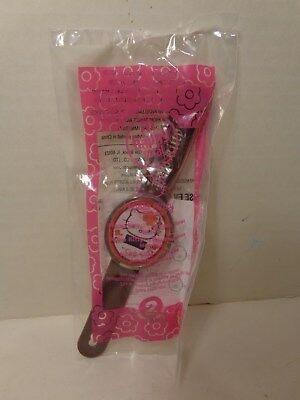McDonalds Happy Meal Hello Kitty Watch Brown Floral Sealed In Package 2008