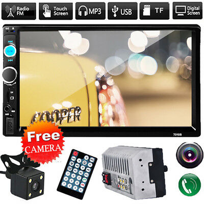 7'' 2DIN Car In-Dash Bluetooth Stereo Radio MP5 MP3 Player FM USB/AUX/TF+CameraT