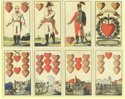 Spielkarten playing cards jeu de cartes Sonderbild Reproduktion Zoelke La Allian