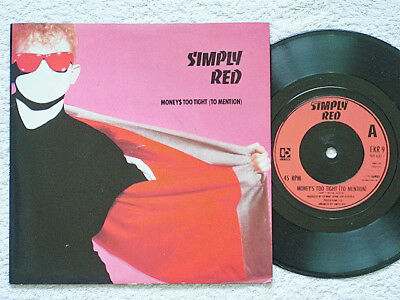 """Simply Red - Money's Too Tight (To Mention) - 7"""" Vinyl - Die-Cut Picture Sleeve"""