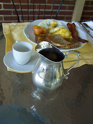 REED & BARTON SILVER HOTEL HOLLOWARE SAUCE / SYRUP PITCHER - our FineThings4sale