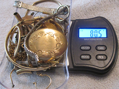 Scrap Gold Filled Jewelry Lot Has Been Cleaned 80.5 grams