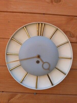 Lovely Rare Early Vintage German Metal Wall Clock With Key.