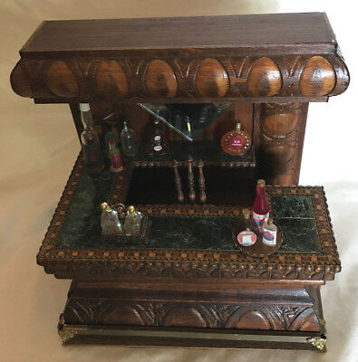 OOAK Miniature Bar Handmade by Frank Preene with Accessories