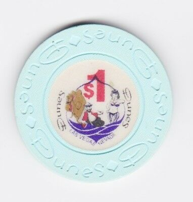 $1 Dunes Genie & Harem White Girl Casino Chip Las Vegas, Nevada!
