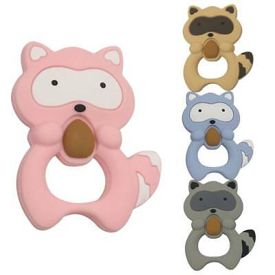 Cute Safety Silicone Small Raccoon Squirrel Teething Chew Toy Teether Grind Baby
