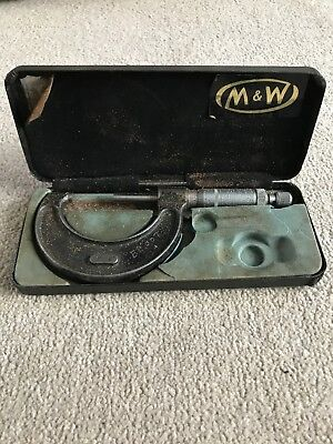 """Moore And Wright Imperial Micrometer 1""""-2"""""""