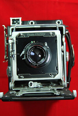 Graflex Crown Graphic 4x5 with Schneider Xenar 135 mm F4.7 Lens Excellent Cond.