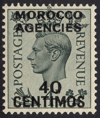 Morocco 1937 40c on GB 4d Grey Green SG 169 Scott 87 UMM/MNH Cat £38($62)