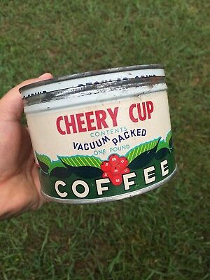 Original~~Cheery Cup Coffee~~1 LB CAN TIN~~Kentucky Food Stores~~Vintage