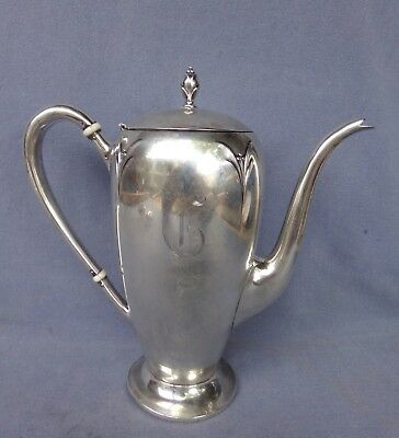 Vintage Simpson, Hall, Miller & Co. Sterling Silver Coffee Pot - C 70 2 Pints