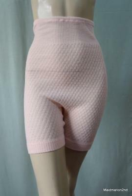 St MICHAEL VINTAGE COSY SOFT PINK WOOL & NYLON BLOOMERS PANTIES KNICKERS Med