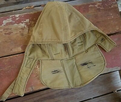 Vintage Od Green Wwii Us Navy Foul Weather Deck Cap Hood Size Small