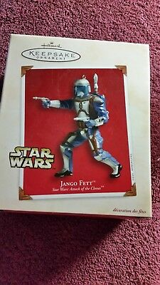 Hallmark Keepsake Ornament Star Wars Attack of the Clones Jango Fett 2002 NIB